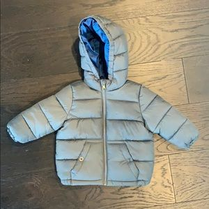 Toddler fleece lined puffer coat- WARM & CUTE!